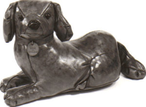 Omersa and Co Leather Staffordshire Dog circa 1974